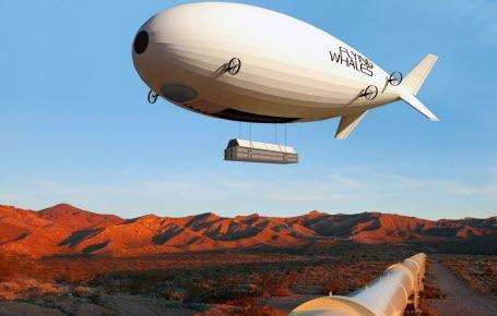 Des baleines volantes à la place des camions