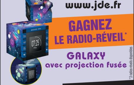 Gagnez le radio-réveil Galaxy avec projection fusée